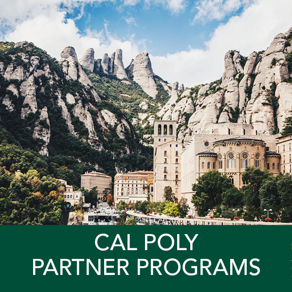 Cal Poly Partner Programs: Study abroad with U.S. and international students for a summer, semester, or academic-year. Internship, work-abroad, and volunteer opportunities available Earn transfer credit towards your major, minor, and GEs.