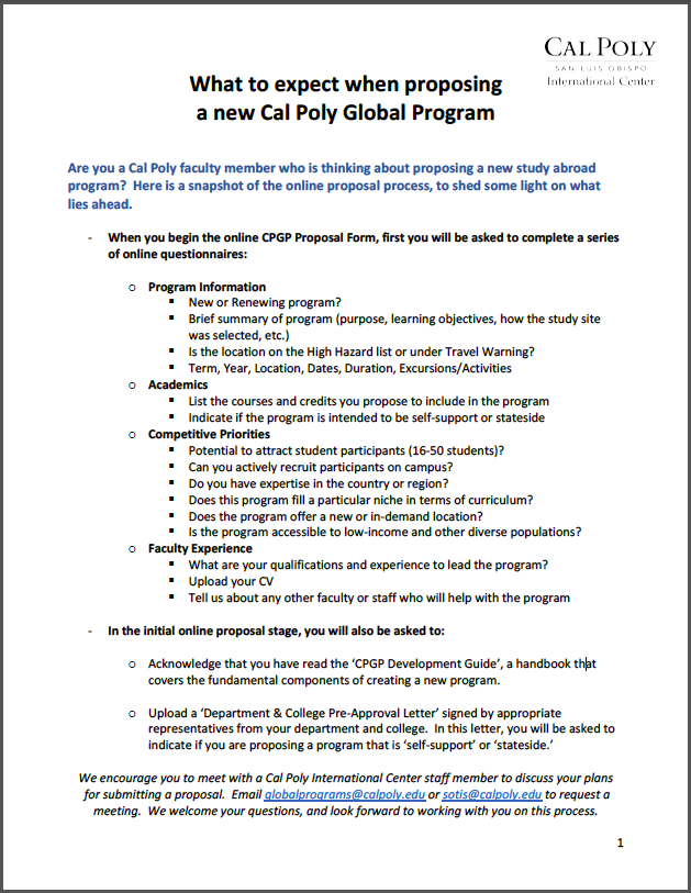 Cal Poly Global Programs  Cal Poly Abroad